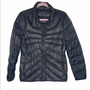 Lands end quilted down puffer jacket